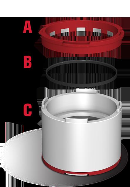 Patented Lock Ring & Seal.